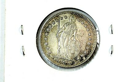 1920 Switzerland Silver 1 Franc Coin No Reserve