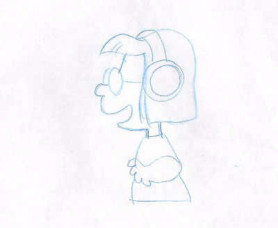 Peanuts Marcie Original Production Animation Cell drawing 1975 COA