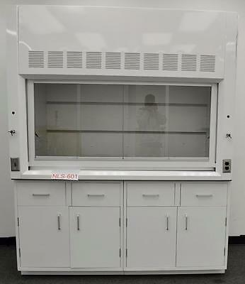 Used Laboratory Chemical  6'  Fume Hood w/ Base Cabinet and Epoxy Top NLS-602..