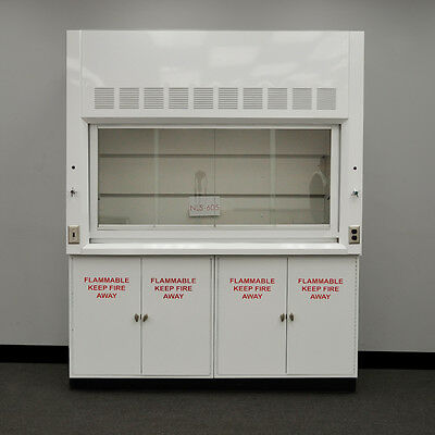 Used Laboratory 6' Chemical Fume Hood W/ Flammable Storage Cabinets NLS-605...