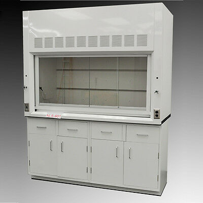6' Chemical Laboratory Fume Hood w/ General Storage Cabinets NLS-601 NEW