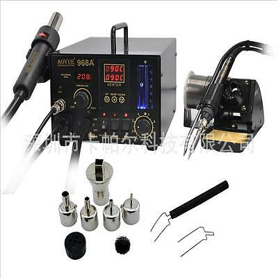 AOYUE 968A+ SMD/SMT Hot Air 3 in1 Repair & Rework Station 220v 200-480°C FAST
