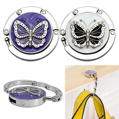 Newly Handbag Hook Folding Women Purse Bag Hanger Butterfly Table Hang Holder