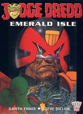 2000AD ft JUDGE DREDD in EMERALD ISLE - GRAPHIC NOVEL - EXCELLENT CONDITION