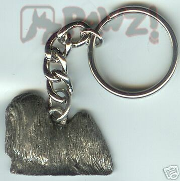 LHASA APSO Dog Fine Pewter Keychain Key Chain Ring NEW