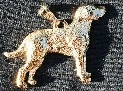 CHESAPEAKE BAY RETRIEVER Chessie  Dog 24K Gold Plated Pewter Pendant