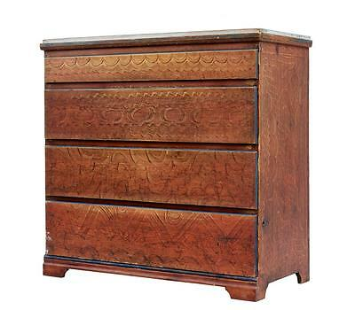 Rare 19Th Century Swedish Painted Chest Of Drawers