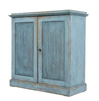 Small 19Th Century Swedish Rustic Painted Cupboard