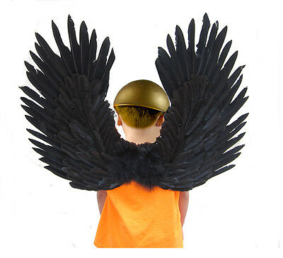Big  Large  Black Feather Angel Wings Adult Cosplay new halloween costume party