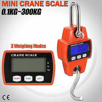 300KG 660LB Mini Crane Scale LCD Digital Electronic Industrial Heavy Duty Hanger