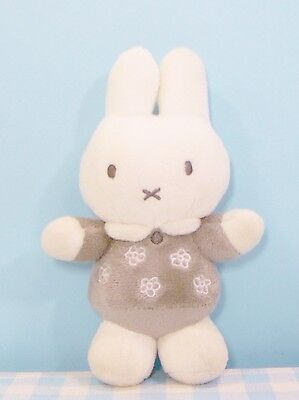 Nijntje Miffy Dick Bruna soft plush toy grey/white pluche knuffel grijs/wit 17cm