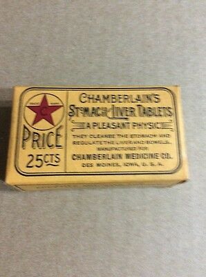 PRE 1910 ANTIQUE APOTHECARY MEDICINE ADVERTISING #55- Chamberlain's Tablets