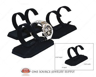 3 Double Black Watch Display Stand Showcase Display Watch Stand Watch Holder