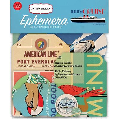 Carta Bella ~ LET'S CRUISE ~ Ephemera Die Cuts