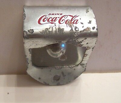 COCA-COLA 1950's WALL MOUNTED BOTTLE OPENER