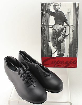New With Box Girl's CAPEZIO Black Tap Shoes Size 1W