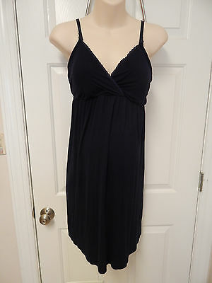 bump in the night maternity nursing nightgown L large blue