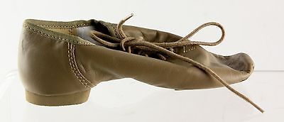 New With Box Girl's SO DANCA Tan Jazz Dance Shoes Size 5