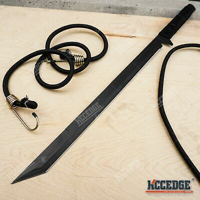 "28"" Tanto Ninja Sharp Full Tang Japanese Machete Sword Outdoor Camping Hunting"