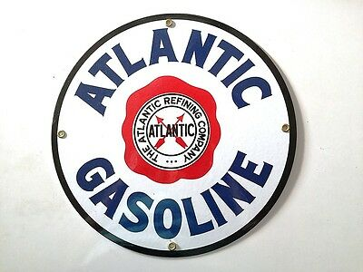 Porcelain Sign Atlantic Gasoline