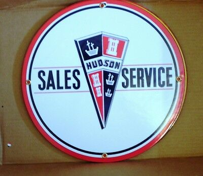 Porcelain Sign Hudson Sales &  Service
