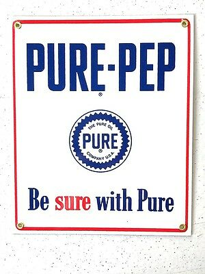 Porcelain Sign Pure Pep Gasoline