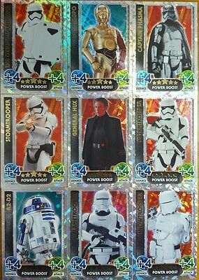 Force Attax STAR WARS HOLOGRAPHIC FOIL Card Set  16 Topps FORCE AWAKENS