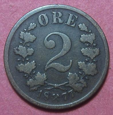Norway 1877 2 Ore   Br1029