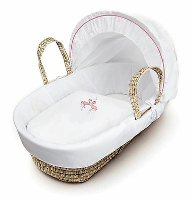 Clearance Flamingo Palm Moses Basket With Padding