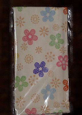 "Longaberger FABRIC NAPKINS 19""  -  Set of 2   ""PETALS"" - Spring & Easter  Pretty"