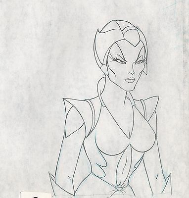 She-Ra Princess of Power Scorpia Production Animation Art cel drawing FILMATION