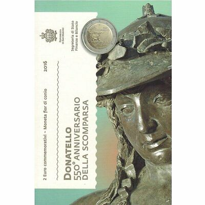 "2016 San Marino 2 Euro Brilliant Uncirculated Coin ""Donatello 550 Years"""