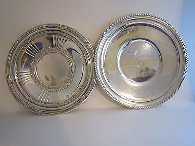Pair of Gorham Sterling Silver Serving Plates 527 Grams