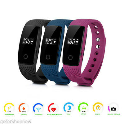 ID107 Smart Watch Wristband Bluetooth OLED Fitness Tracker Heart Rate Monitor