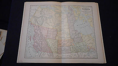 Canada West Section Color Map 1883 Beautiful 10 1/2 X 13 See Others