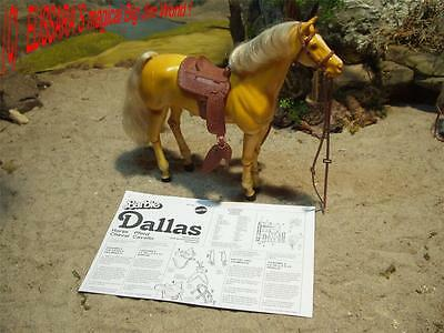 Big Jim Pferd - DALLAS - Palomino - Gelenkpferd ! Barbie Horse - Mattel