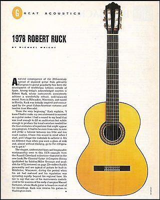 The 1978 Robert Ruck Classical Acoustic Guitar 8 x 11 article print