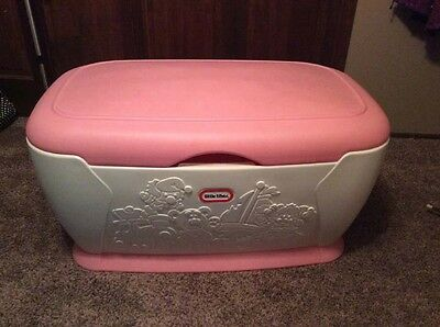 Extra Large Little Tikes Toy Box Chest Pink White
