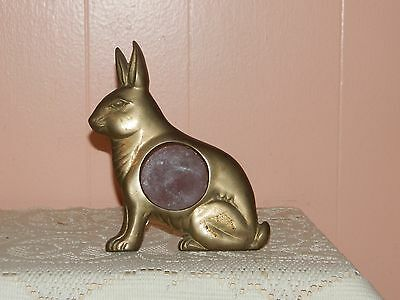 METAL RABBIT PICTURE FRAME  Price Reduced