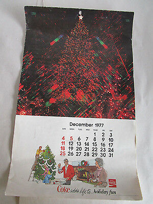 1978 Coca-Cola Calendar  With Complete Date Pad