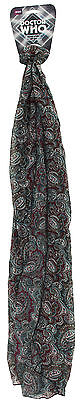 Dr Who Adult Seventh Doctor Light Weight Paisley Scarf Licensed Elope BBC New