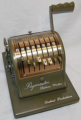 Vintage Paymaster Ribbon Writer Series 8000 Check Money Order with Cover Nice!