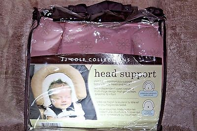 Lovely JJ Cole~ Pink Floral Baby Girl Infant Head Support for Car Seat~ EUC~p1