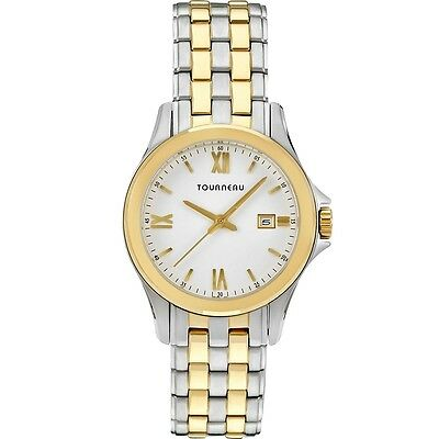 f987017e50d Tourneau TLRB-W064 Gold   Silver Tone White Dial Date Women s Watch ~ GREAT  GIFT
