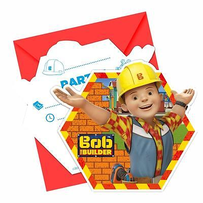 Bob the Builder - Party Birthday Invitation Cards 6 Pieces