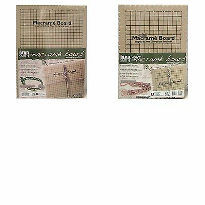 Beadsmith Macrame Board Jewellery Making Choose Small - Medium or Large ML