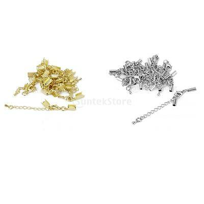 24pcs Clasp and Clip Ends Set with Extender Chain DIY Necklace Bracelet Findings