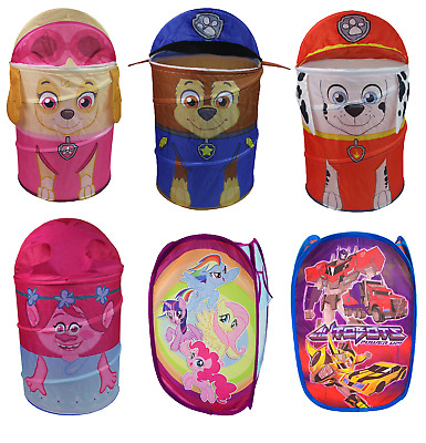 Deluxe Pop Up Laundry Washing Clothes Basket Kids Childrens Toys Storage Bin