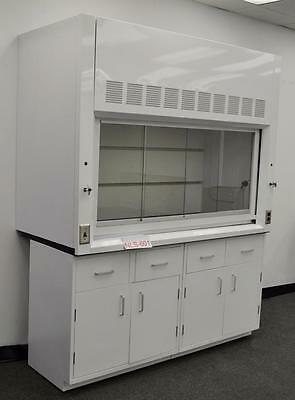 6' Laboratory Chemical Fume Hood with Base Cabinet and Epoxy Top  NLS 602...