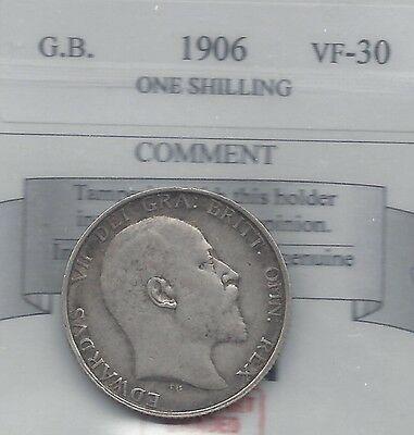 **1906**Great Britain, Shilling,  Coin Mart Graded**VF-30**